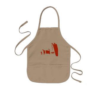 Ancient cook kids apron