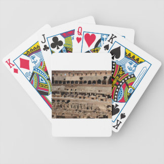 ancient crumble building bicycle playing cards