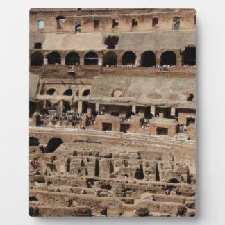 ancient crumble building plaque