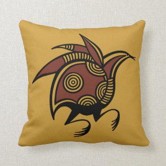 Ancient Cypriot bird motif throw pillow