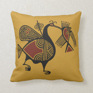 Ancient Cypriot pelican motif throw pillow