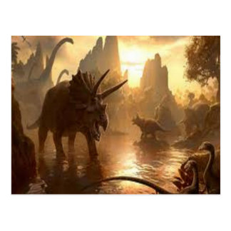 ancient dinosaur postcard
