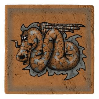 ANCIENT DRAGON ICON by Slipperywindow Trivet
