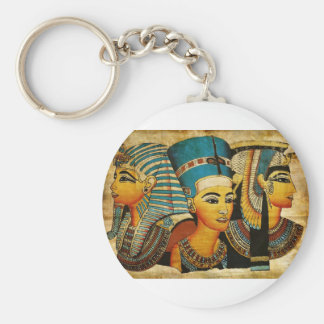 Ancient Egypt 3 Basic Round Button Key Ring