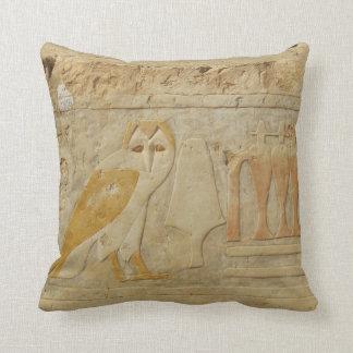 Ancient Egypt Egyptian hieroglyph Owl God Throw Cushion