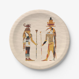 Ancient Egypt Gods Paper Plate