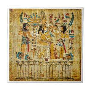 Ancient Egypt Tapestry Scroll Heirogliphics Ceramic Tile