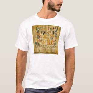 Ancient Egypt Tapestry Scroll Heirogliphics T-Shirt