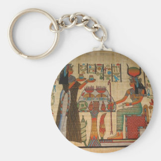 ANCIENT EGYPT WALL MURAL BASIC ROUND BUTTON KEY RING