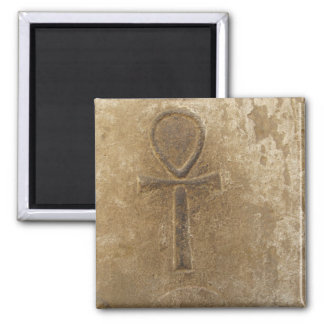 Ancient Egyptian Ankh, Key of Life Square Magnet