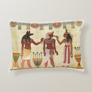 Ancient, Egyptian art style accent pillow cushion