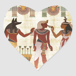 Ancient, Egyptian art style heart stickers