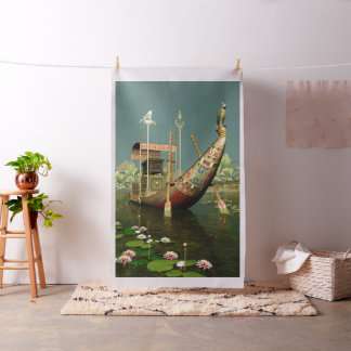 Ancient Egyptian Barge Tapestry Fabric