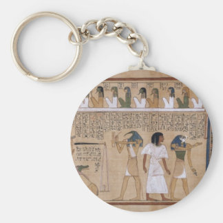 Ancient Egyptian Basic Round Button Key Ring