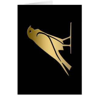 Ancient Egyptian bird – goddess Nekhbet Greeting Card