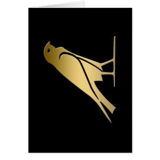 Ancient Egyptian bird – goddess Nekhbet Greeting Card