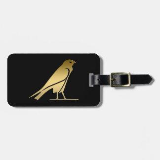 Ancient Egyptian bird – goddess Nekhbet Tag For Luggage