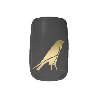Ancient Egyptian bird – goddess Nekhbet Minx® Nail Art