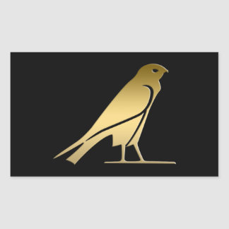 Ancient Egyptian bird – goddess Nekhbet Rectangular Sticker