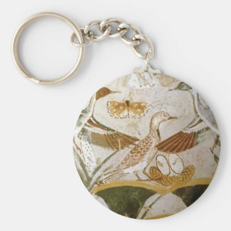 Ancient Egyptian Birds Basic Round Button Key Ring
