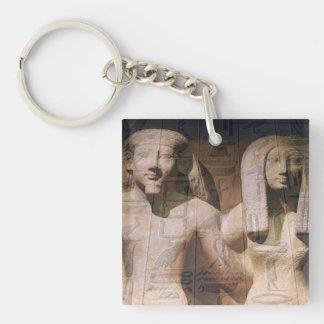 Ancient Egyptian Couple Hieroglyphics Acrylic Key Chain