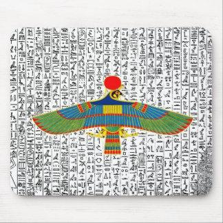 Ancient Egyptian God Horus Hawk Mousepad