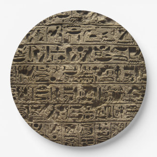 ancient egyptian hieroglyphs paper plate