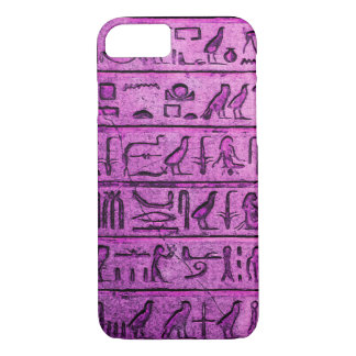 Ancient Egyptian Hieroglyphs Purple iPhone 7 Case