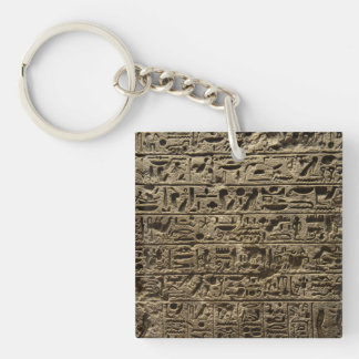 ancient egyptian hieroglyphs Single-Sided square acrylic key ring