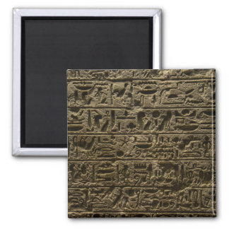 ancient egyptian hieroglyphs square magnet