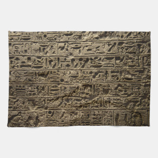 ancient egyptian hieroglyphs tea towel