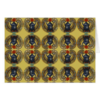 Ancient Egyptian Message Scarabs Card