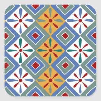 Ancient Egyptian Pattern: Thebes Square Sticker