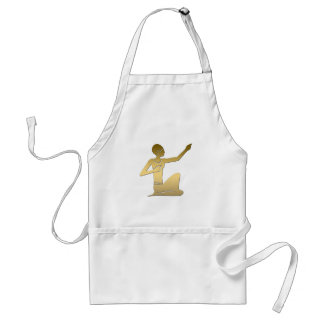 Ancient Egyptian pointing figure Standard Apron