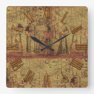 Ancient Egyptian Temple Wall Art Square Wall Clock