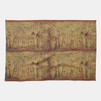 Ancient Egyptian Temple Wall Art Tea Towel