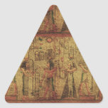 Ancient Egyptian Temple Wall Art Triangle Stickers