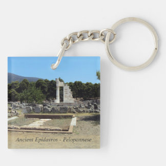 Ancient Epidavros – Peloponnese Double-Sided Square Acrylic Key Ring
