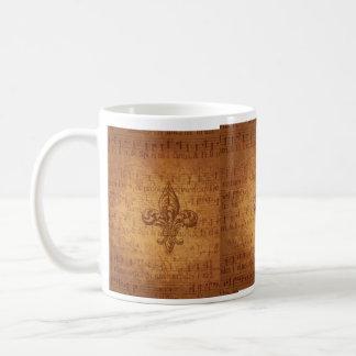 Ancient Fleur De Lis Basic White Mug