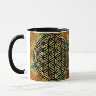 Ancient Flower of Life Sacred Geometry Mug