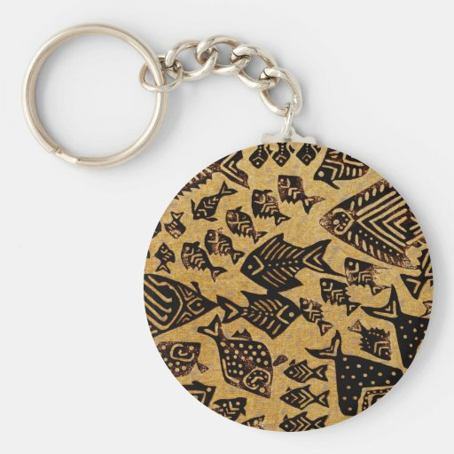 Ancient Fossil Fish Key Chains