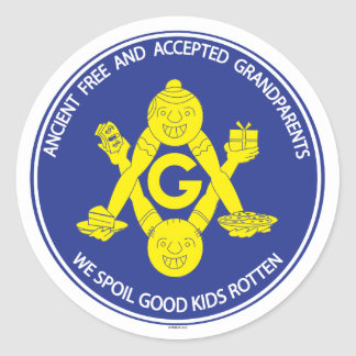 ANCIENT FREE & ACCEPTED GRANDPARENTS  STICKER