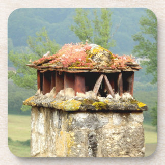 Ancient French Chimney Hard Plastic Coasters