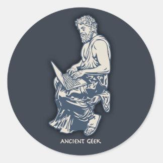 Ancient Geek Round Sticker