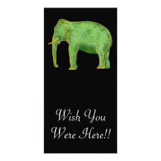 Ancient Gold and Jade Elephant Photo Greeting Card