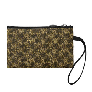 Ancient Golden Celtic Spiral Knots Pattern Coin Purse