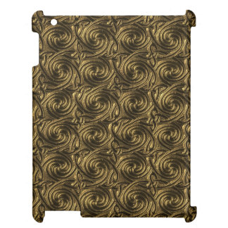 Ancient Golden Celtic Spiral Knots Pattern iPad Case