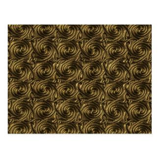 Ancient Golden Celtic Spiral Knots Pattern Postcards