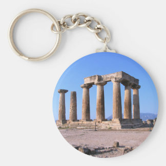 Ancient Greece Basic Round Button Key Ring