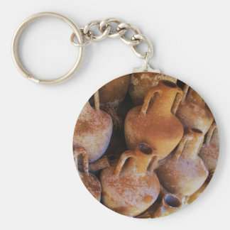Ancient Greek Amphoras Basic Round Button Key Ring